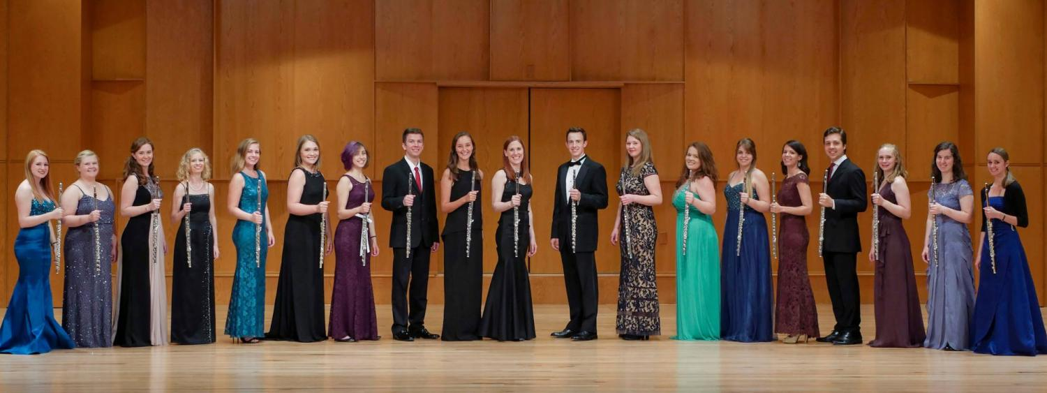 flute students on stage