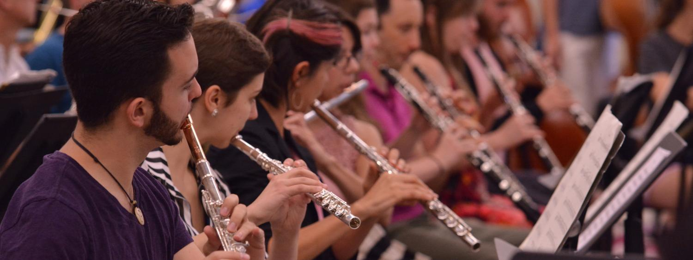 flutes rehearsing