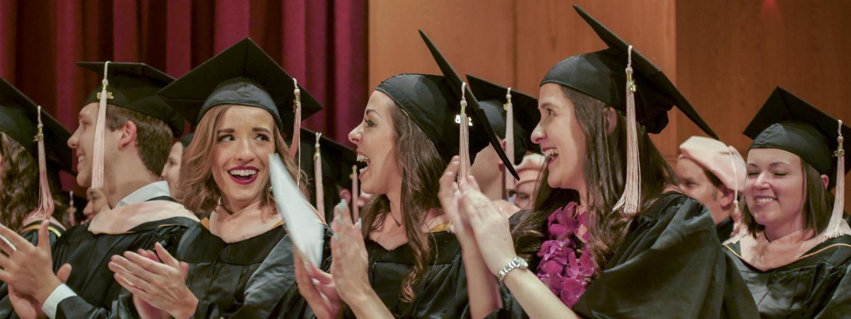 Graduates graduating