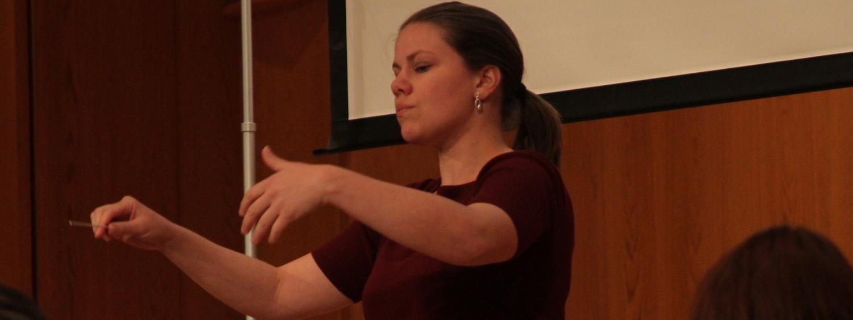 graduate student conducting