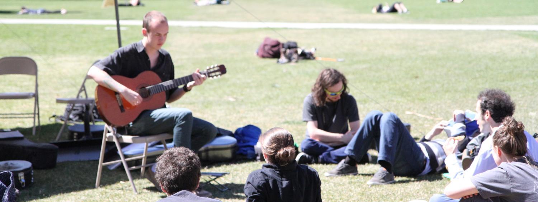 outdoor guitar performance