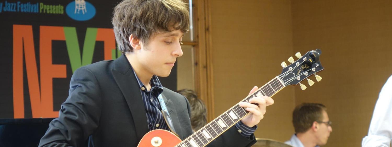 jazz guitarist on stage