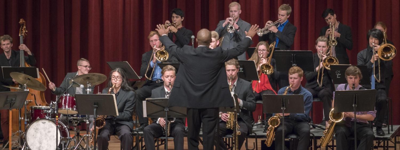 Jazz Ensemble performing