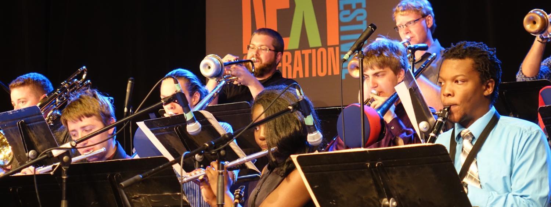 jazz studies students performing