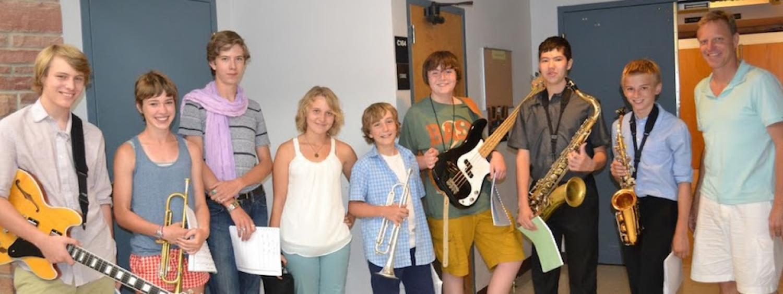 jazz students pose