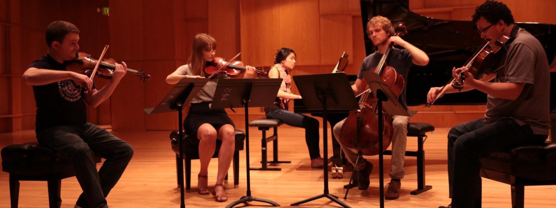 ajax quartet on stage in grusin