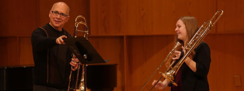 Alessi learning Trombone