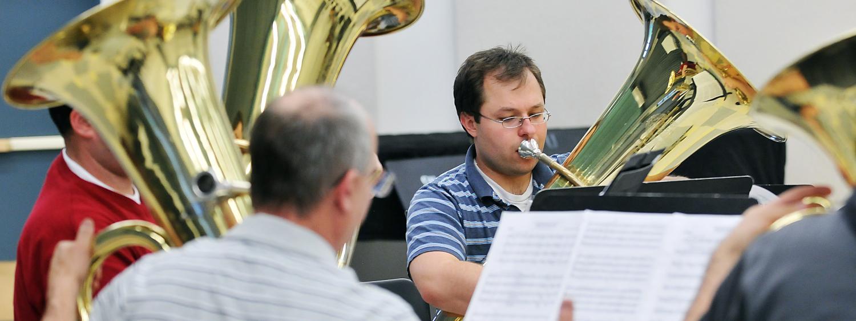 tuba and euphonium students