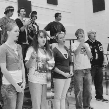 caroline vickstrom singing in choir