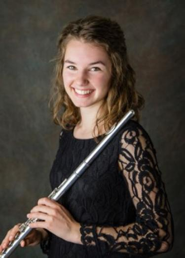 Claire Gunsbury with her flute