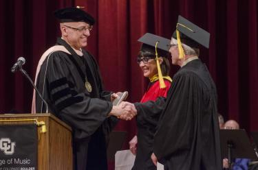 dean shay at commencement