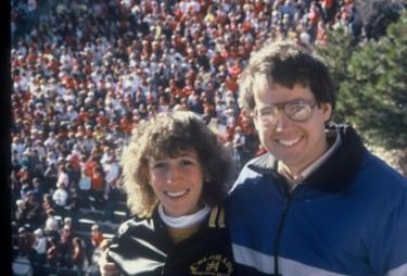 Ben and Pattie Nelson in marching band