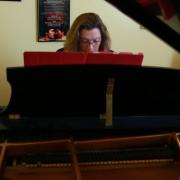 Jennifer Hayghe rehearsing