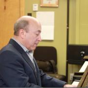 Andrew Cooperstock rehearsing
