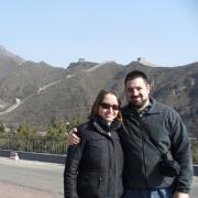 adam and sasha at the great wall of china