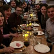Alumni at dinner in New York