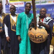 austin okigbo posing with fellow presenters in africa