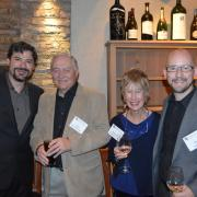 Carter Pann, Chris Christoffersen, Barbara Christoffersen and Daniel Kellogg at a dinner celebrating the Christoffersens' latest gift to the College of Music.