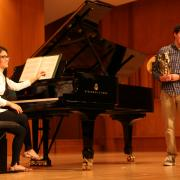 collaborative pianist on stage