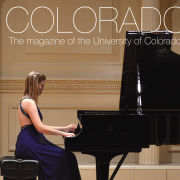 piano player on the cover of colorado music magazine