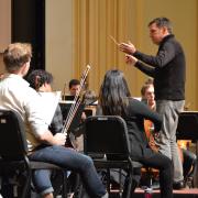 symphony orchestra on stage