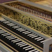 harpsichord closeup