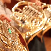 up close horns on stage before carnegie