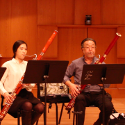 Yoshi Ishikawa rehearsing with fellow faculty members