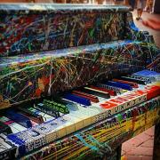 jack gaffney splattered piano