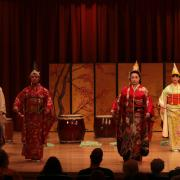 japanese ensemble performs on stage