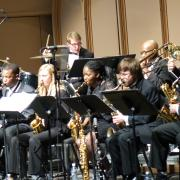 jazz ensemble on stage
