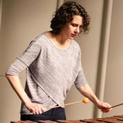 Jennie Dorris playing marimba