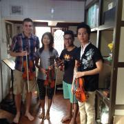megan and joel teaching music abroad