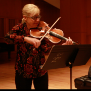david korevaar and geraldine walther rehearsing
