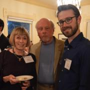maria and don johnson and conor brown at a reception