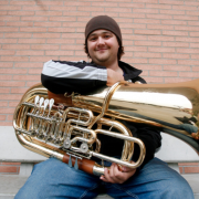 Michael Musick with his tuba