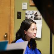 Professor Nguyen rehearsing