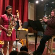 students performing jazz