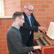 Professor of Harpsichord and Eugene D. Eaton, Jr. Chair in Baroque Music Performance Robert Hill comes to the College of Music