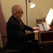 robert hill playing harpsichord