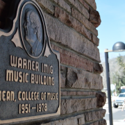 Imig Music Building entrance