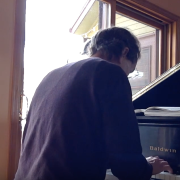 Image of David Korevaar at his piano