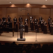 University Singers perform in Grusin Music Hall