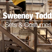 Scaffolding of the Sweeney Todd set