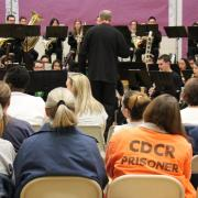 Larry Stoffel conducting students