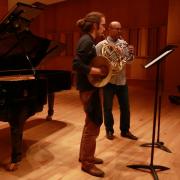 Michael Thornton rehearsing