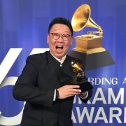 Wei Wu with Grammy