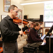Charles Wetherbee and David Korevaar practicing