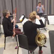 wind symphony rehearsal