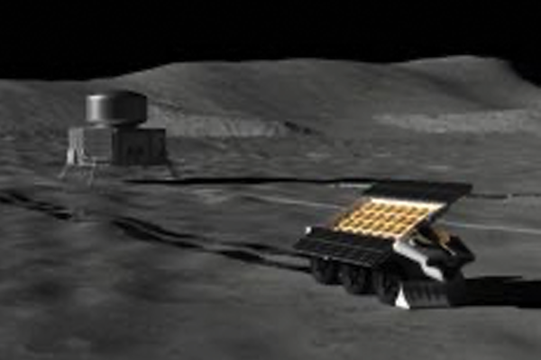 Artist illustration of FarView on the Moon
